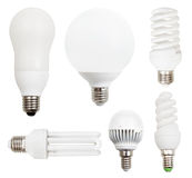 Set of usual incandescent light bulbs Stock Photo