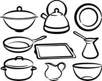set utensil för kök Royaltyfri Foto