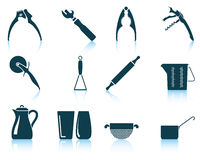 Set of utensil icons Stock Image