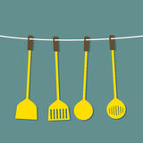 Set Of Utensils Stock Images