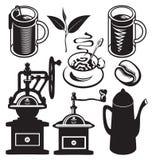 Set of utensils for hot drinks Stock Image