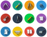 Set of utensils icons Royalty Free Stock Photos