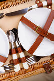 Set of utensils for a picnic Stock Photo