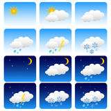 set väder Arkivbild