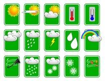 set väder för symbol vektor illustrationer