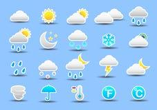 set väder för symbol Arkivfoto