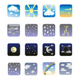 set väder för symbol Royaltyfria Bilder