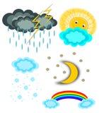 set väder för symbol Royaltyfria Foton