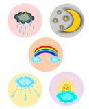 set väder för symbol Royaltyfri Foto