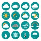 set väder för symbol Royaltyfri Bild