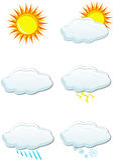 set väder för symbol royaltyfri illustrationer