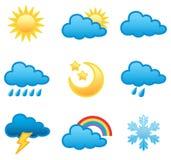 set väder för symbol Arkivbild