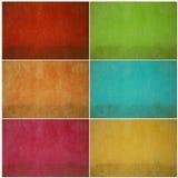 set vägg för färgrik grunge Arkivbild