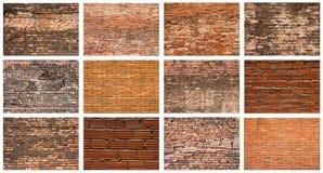 set vägg för tegelsten Arkivbild