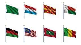 set värld för 14 flagga Arkivfoton