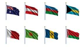 set värld för 2 flagga vektor illustrationer