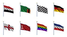 set värld för 26 flagga Arkivbild