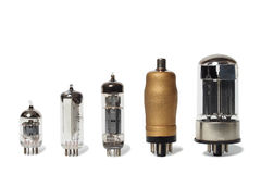 Set of vacuum tubes Royalty Free Stock Photos