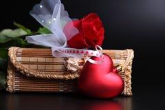 set valentin för gåva Arkivfoton