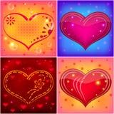 set valentin för hjärta Arkivfoton