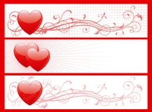 Set of valentin's day banners Royalty Free Stock Image