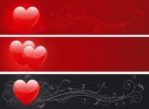 Set of valentin's day banners Stock Photography