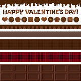 Set of Valentine�s Day illustrations. Stock Images
