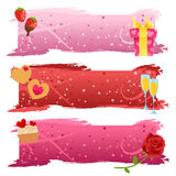 Set of Valentine banners Royalty Free Stock Photo