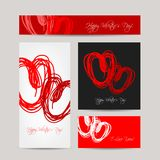 Set of valentine cards for your design Royalty Free Stock Images