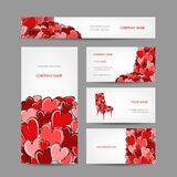 Set of valentine cards for your design Royalty Free Stock Photography