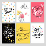 Set of Valentine day greeting cards Stock Image