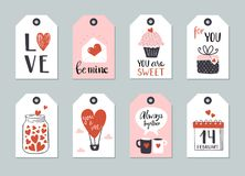 Set of Valentine day tag template Royalty Free Stock Image