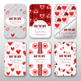Set of valentine day and wedding templates card collection Stock Image