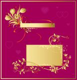 Set_of_valentine_decorations Stock Images