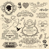 Set of valentine design elements Royalty Free Stock Photography