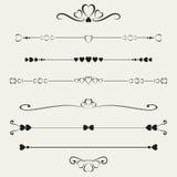Set of valentine elements,  Royalty Free Stock Image