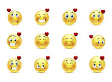 Set valentine emoticons Stock Photo
