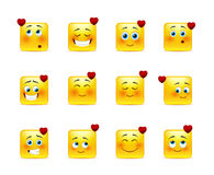 Set valentine emoticons Stock Photos