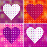 Set of valentine heart stickers Royalty Free Stock Photos