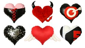Set of valentine hearts Stock Photo