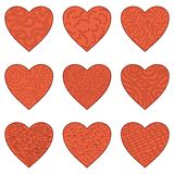 Set Valentine hearts Royalty Free Stock Photos