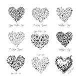 Set of valentine hearts for your design Royalty Free Stock Images