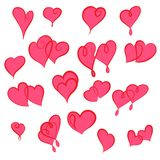 Set of valentine hearts for your design Stock Photography