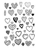 Set of valentine hearts for your design Stock Images