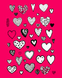 Set of valentine hearts for your design Royalty Free Stock Photos