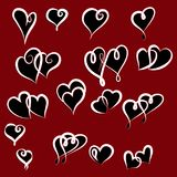 Set of valentine hearts for your design Royalty Free Stock Photography