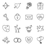 Set of valentine icons Royalty Free Stock Photography