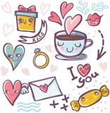 Set of valentine icons Stock Photos