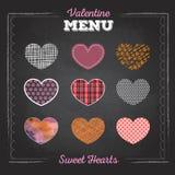 Set of valentine love hearts. Royalty Free Stock Photos