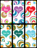 Set of valentine's background labels. For cover phone No.10 Stock Image
